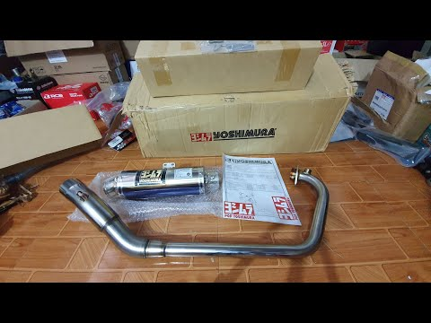 Đập thùng pô Yoshimura GP Magnum bản Titan tím cho Raider - Satria FI