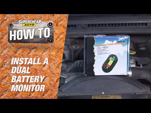 How to install a dual battery monitor youtube
