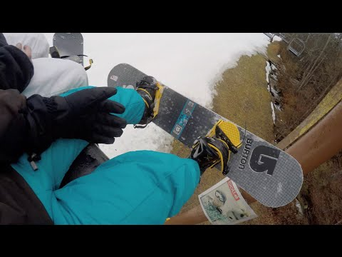 FIRST TIME SNOWBOARDING!