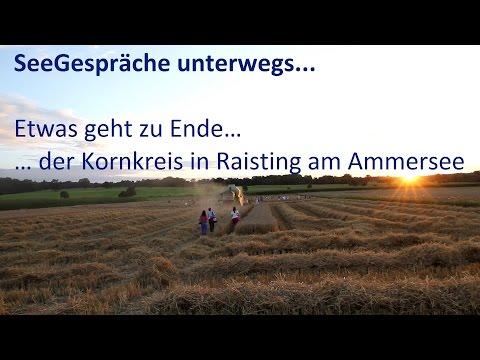 Kornkreis Ammersee - Raisting - Bauer beginnt das Feld zu mähen – Die Seegespräche Reportage 8.8.14