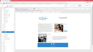 CreataCRM How to create and send  Email Marketing Campaign