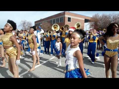 High Point  Central vs Winston Salem Carver High at Greensboro Christmas Parade Dec 3rd 2016