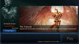 League Of Legends - Play When The Server Is Undefined