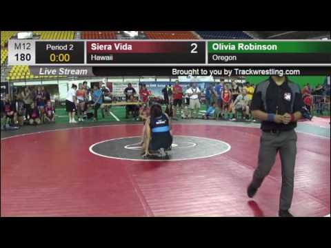 1000 HS GIRL 180 Olivia Robinson Oregon vs Siera Vida Hawaii 8419077104