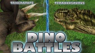 DINO BATTLES - Triceratops Vs. Tyrannosaurus