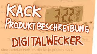 Kack Produktbeschreibung – Digitalwecker