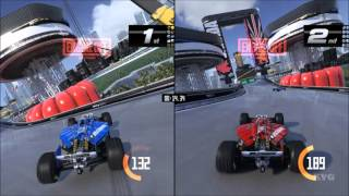 TrackMania Turbo - Splitscreen Gameplay (PC HD) [1080p60FPS]