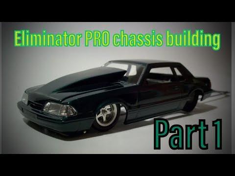 Eliminator PRO   1/24 scale drag slot car chassis building part 1