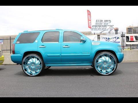 WhipAddict: Kandy Chevrolet Tahoe on Amani Forged Benzo 30s, Custom Interior & Car Audio