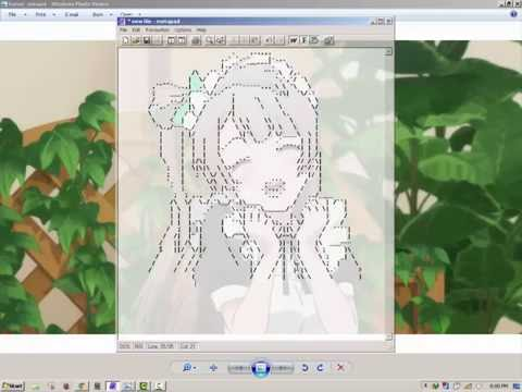 [Tutorial] Redrawing a picture to ASCII Text ~ Kotori Minami from Love Live