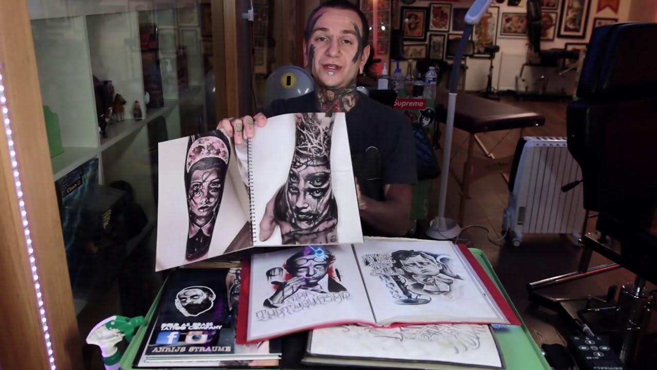 Apprentice Portfolio / Tattoo Artist Portfolio / Tips And Advice. Anrijs  Straume Tattoo 09:46 HD