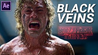 BLACK VEINS Effect From STRANGER THINGS (After Effects Tutorial)