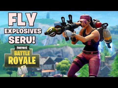 FLY EXPLOSIVES SERU! - Fortnite: Battle Royale (w/ ZimzAjaib, GemmaD, Watchout Gaming)