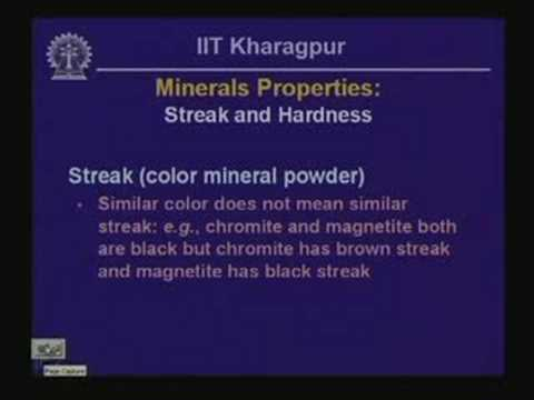 Lecture - 5 Physical Properties of Minerals