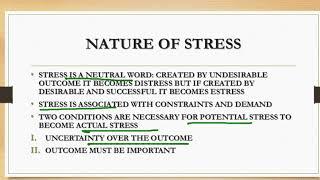 STRESS MGMT 1 ORGANIZATION BEHAVIOR