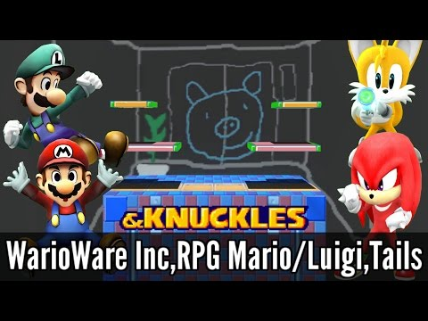 WarioWare Inc,Tails,Knuckles & RPG Mario/Luigi - Super Smash Bros. Wii U Mods & Knuckles