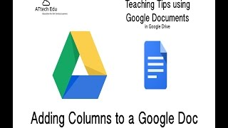 Teaching Tips using Google Documents - Adding Columns to Google Docs - Using the header for a title