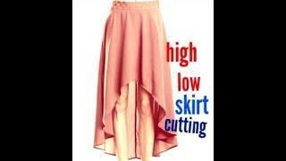 DIY/How to make a high low umbrella long skirt drafting,cutting(in hindi)