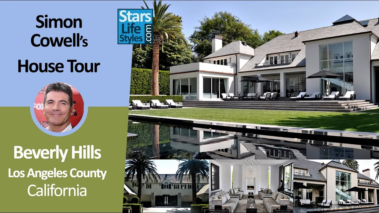 Simon Cowell S Beverly Hills House Tour Los Angeles California 12 Million Celebrity