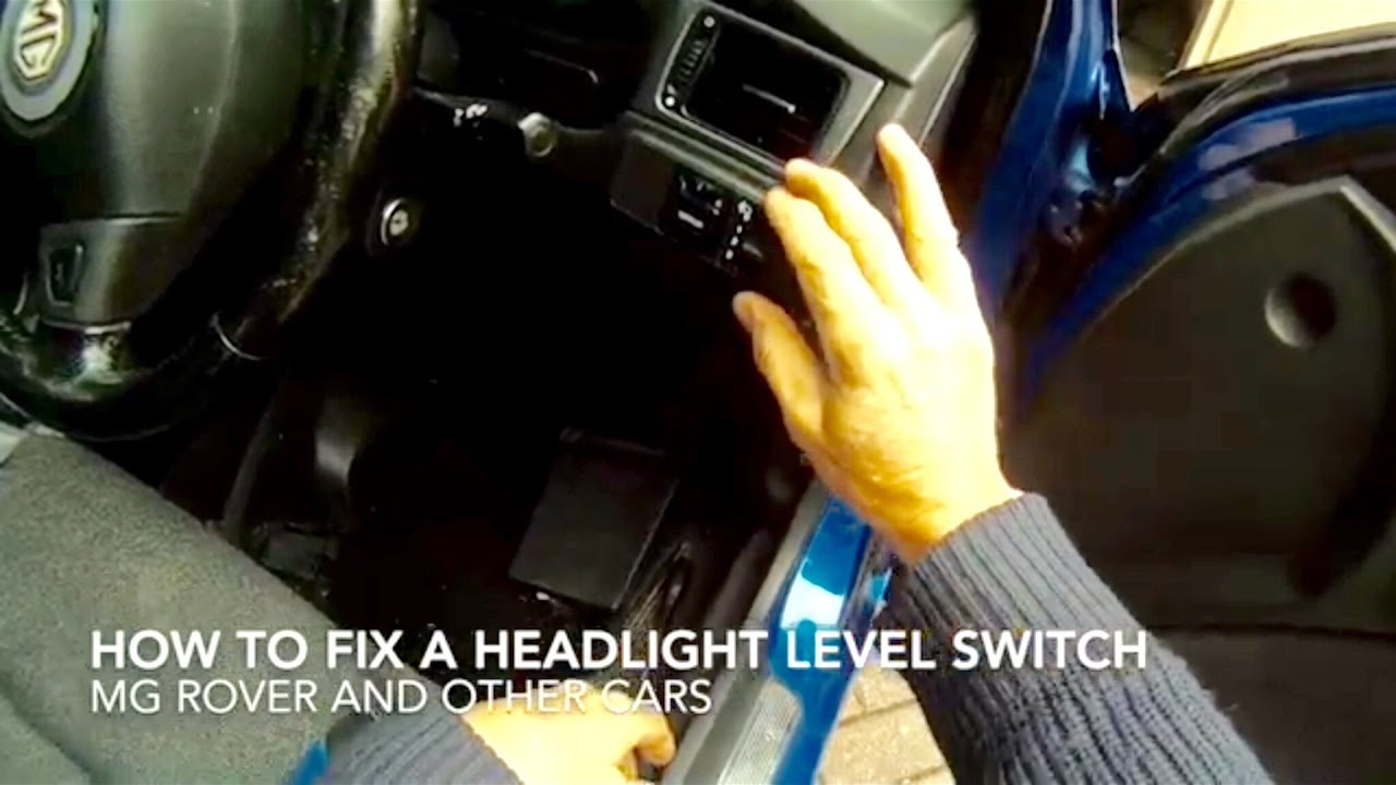How To Fix A Headlight Level Control Switch Youtube 03 Sorento Wiring Diagram