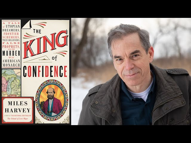 An evening with Miles Harvey author of The King of Confidence