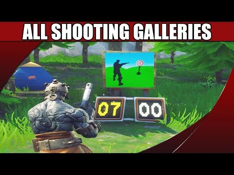 All Shooting Galleries Locations Guide - Fortnite Season 7 Challenge
