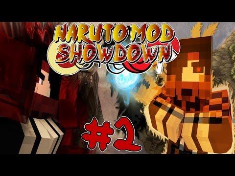 SASUKE VS NARUTO! || Naruto Anime Mod Showdown #2 (Minecraft Naruto Anime Mod)