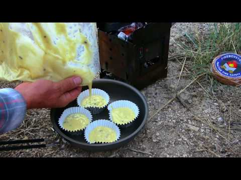 Baking Muffins / Camp Oven -Testing Our New Fry Pan Mess Kit- Camping Gear.