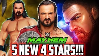 WWE MAYHEM 5 NEW 4 STAR SUPERSTARS REVEALED! SUPER SHOW-DOWN UPDATE NEWS!!!