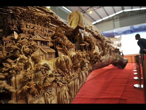 BREATHTAKING WOOD SCULPTURE FOUND IN CHINA
