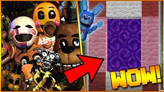 HOW TO MAKE A PORTAL TO THE FNAF UNIVERSE 2.0 DIMENSION - MINECRAFT