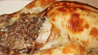Курица с гречневой кашей в духовке!