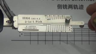 Lockmall Lishi HU64(10) v.3 KEY READER 2-in-1 Pick/Decoder Tool