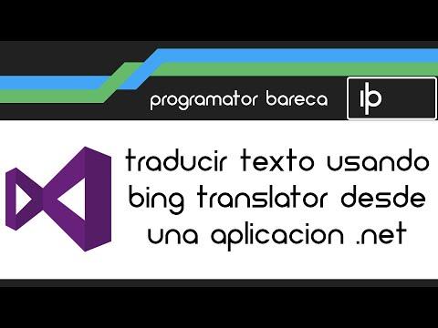 Traducción con Bing Translator desde una aplicación .Net
