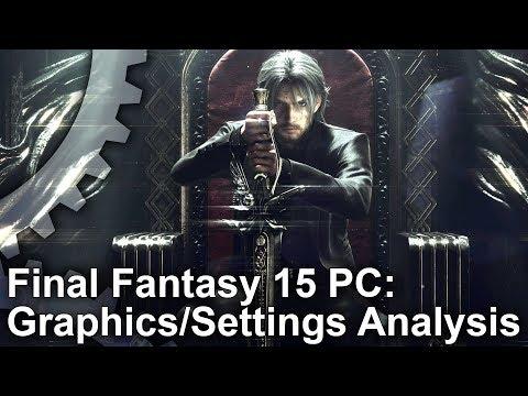 [4K] Final Fantasy 15: PC Graphics Settings/Upgrades vs Xbox One X!