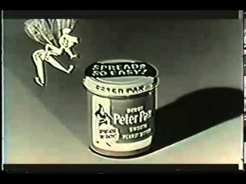 VINTAGE 1950's PETER PAN PEANUT BUTTER  VOICED BY THE GREAT STERLING HOLLOWAY