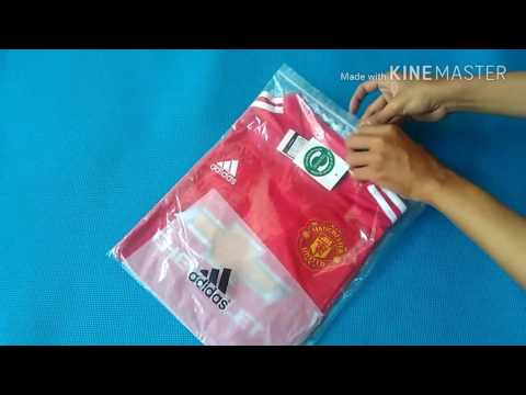 Manchester United Home adidas Jersey Fans season 17-18 | KineMaster | unboxing and review
