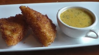 Fried Cheese Grits with a Butter Sauce