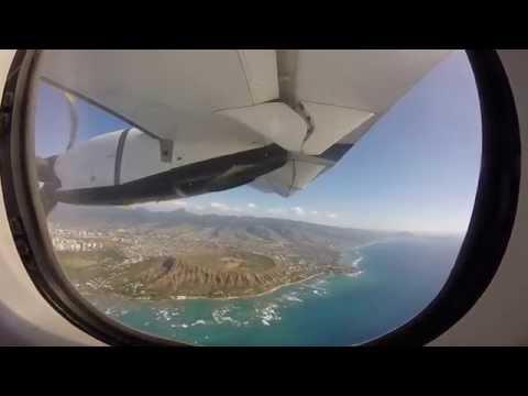 Flight from Maui to Oahu, Hawaii - Island Air