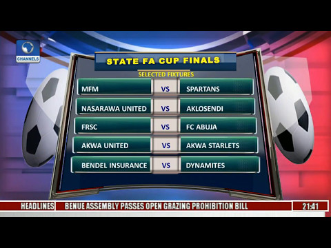 Sports Tonight: Reviewing State FA Cup Finals Fixtures