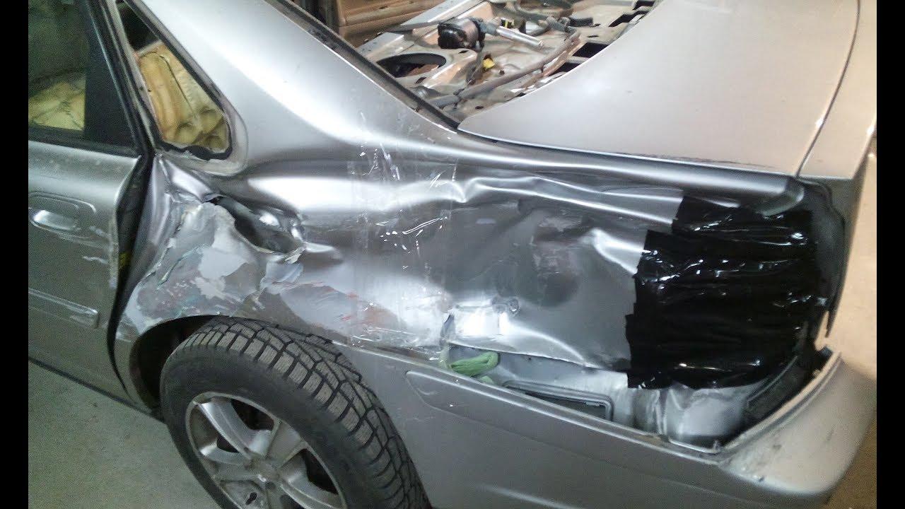 Volvo S60 - кузовной ремонт, устранение перекоса