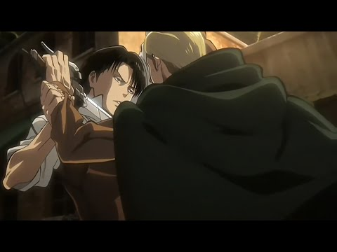 Levi VS Erwin HD  Attack on Titan OVA Shingeki no Kyojin