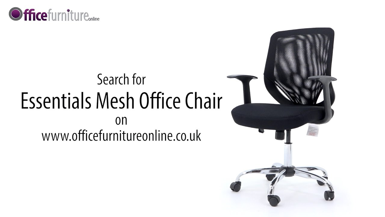 essentials mesh office chair from officefurnitureonline co uk youtube