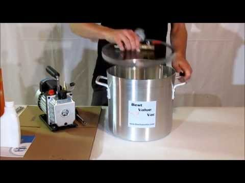 Best Value Vacs 3 Gallon Vacuum Chamber & Pump Kit