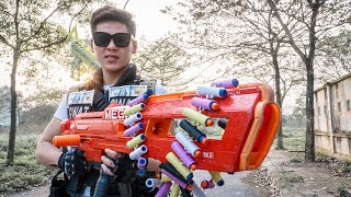 LTT Game Nerf War : Special Police Warriors SEAL X Nerf Guns Fight Crime group Bad Man One Eye