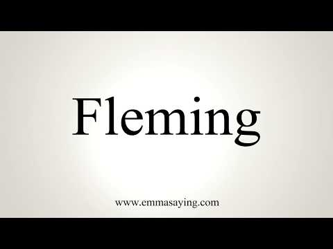 How To Pronounce Fleming