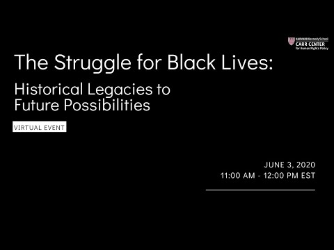 The Struggle for Black Lives: Historical Legacies to Future Possibilities on YouTube