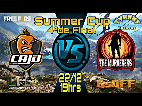 [🔴 LIVE] FREE FIRE | SUMMER CUP 4º DE FINAL | TEAM CAJU vs THE MURDERERS | #TC #TM