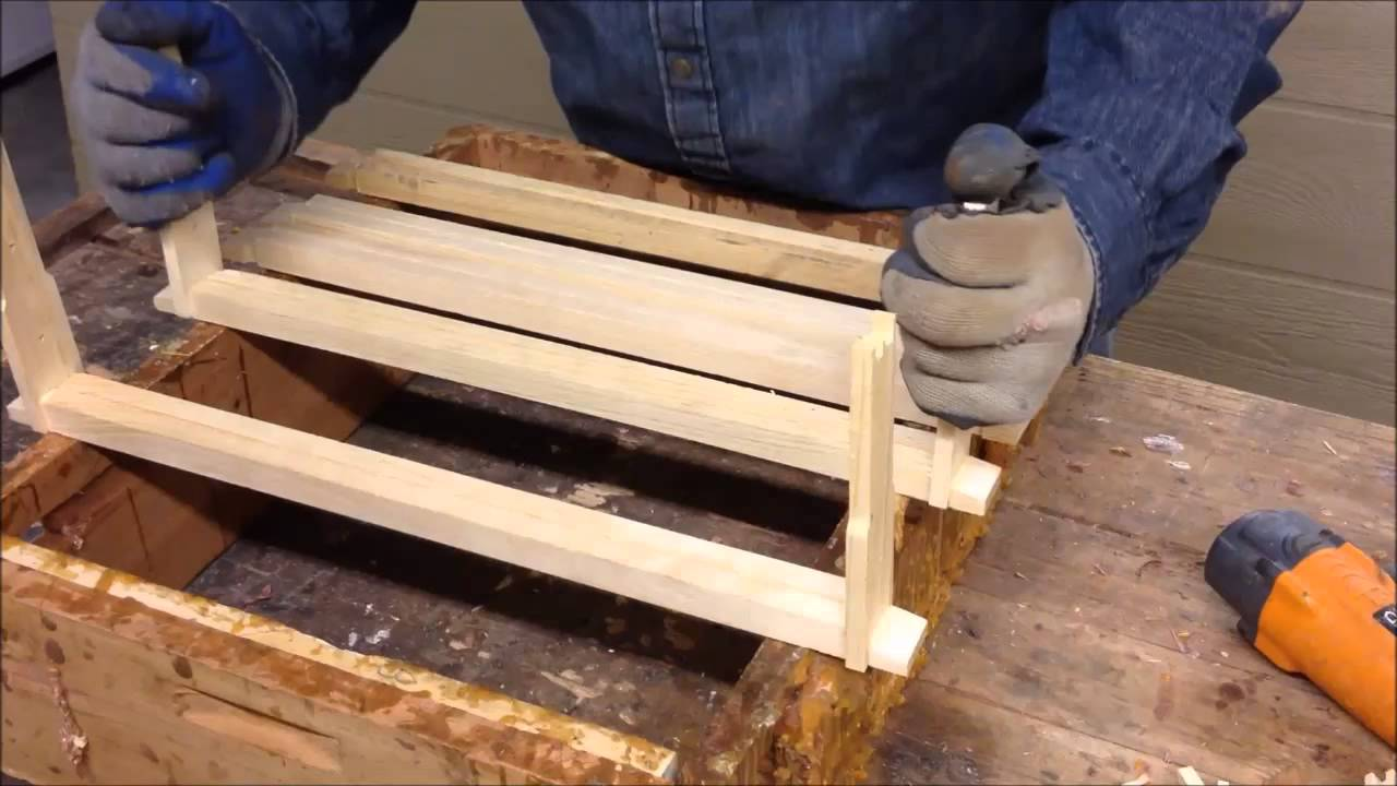 Bee Hive Frame Assembly The Easy Way - YouTube