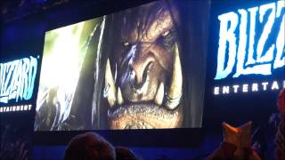 Gamescom 2014 & Blizzard Cinematic WoD with Relaese Date and Crowd react.